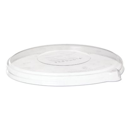 Picture of 100% Recycled Content Flat Lid, Fits 24/46 oz Coupe Bowls and 16/40 oz Noodle Bowls, 50/Pack, 8 Packs/Carton