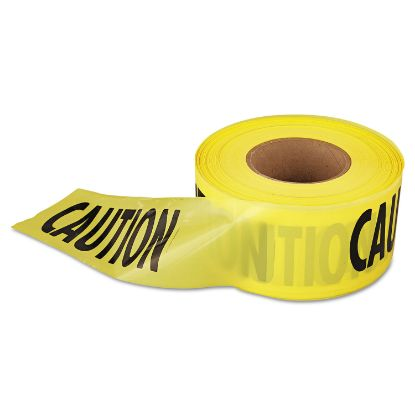 """Picture of """"Caution"""" Barricade Tape, 3"""" x 1,000 ft., Yellow/Black"""