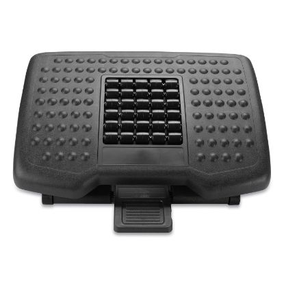 Picture of Adjustable Height Footrest with Rollers for Massage, 18 x 14 x 4.25, Black