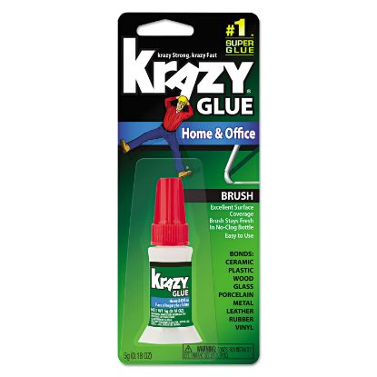 Picture of All Purpose Brush-On Krazy Glue, 0.18 oz, Dries Clear