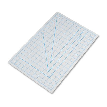 "Picture of Self-Healing Cutting Mat, Nonslip Bottom, 1"" Grid, 12 x 18, Gray"