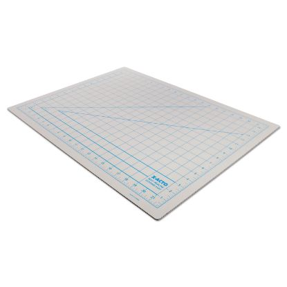 "Picture of Self-Healing Cutting Mat, Nonslip Bottom, 1"" Grid, 18 x 24, Gray"