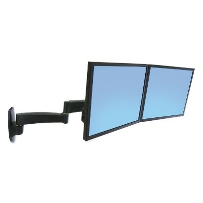 Picture of 200 Series Dual Monitor Arm, 3w x 5.75 to 23d x 11.88h, Black