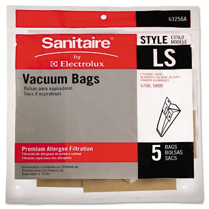 Picture of Commercial Upright Vacuum Cleaner Replacement Bags, Style LS, 5/Pack, 10 PK/CT
