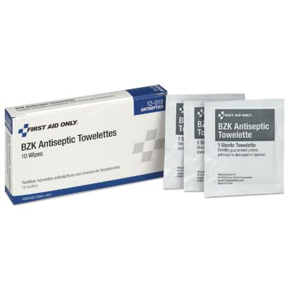 Picture of 10 Person ANSI Class A Refill, BZK Antiseptic Wipes, 10/Box