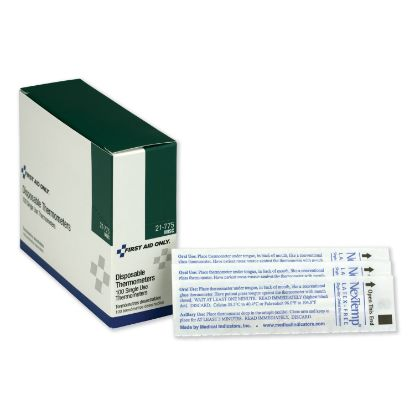 Picture of Disposable Thermometer, Dot-Matrix Phase-Change, 100/Box