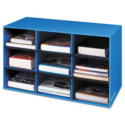 Picture of Classroom Literature Sorter, 9 Compartments, 28 1/4 x 13 x 16, Blue