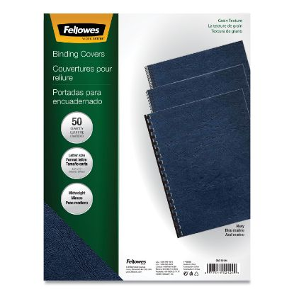 Picture of Classic Grain Texture Binding System Covers, 11 x 8-1/2, Navy, 50/Pack