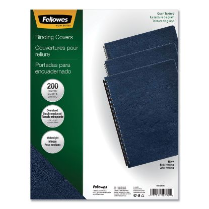 Picture of Classic Grain Texture Binding System Covers, 11-1/4 x 8-3/4, Navy, 200/Pack