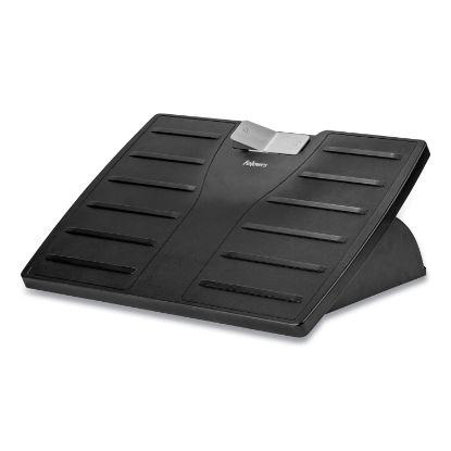 Picture of Adjustable 3-Height Footrest,Tilt Lock,17-1/2w x 13-1/8d x 4-3/8h, Black/Silver