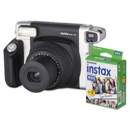 Picture of Instax Wide 300 Camera Bundle, 16 MP, Auto Focus, Black