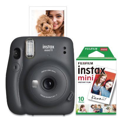 Picture of Instax Mini 11 Camera Bundle, Auto Focus, Charcoal