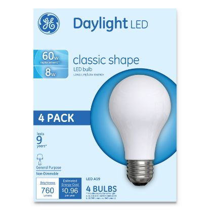 Picture of Classic LED Daylight Non-Dim A19 Light Bulb, 8 W, 4/Pack