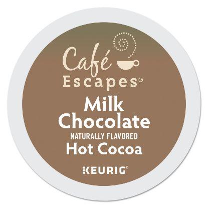 Picture of Café Escapes Milk Chocolate Hot Cocoa K-Cups, 96/Carton