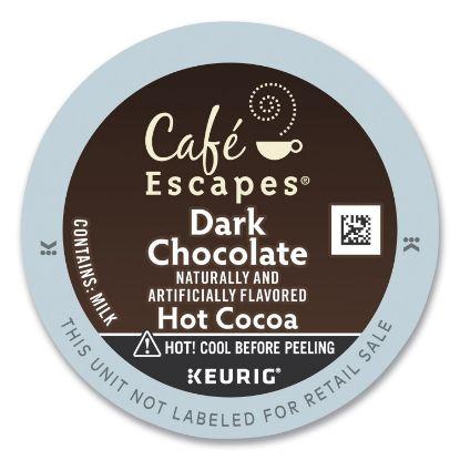 Picture of Café Escapes Dark Chocolate Hot Cocoa K-Cups, 24/Box
