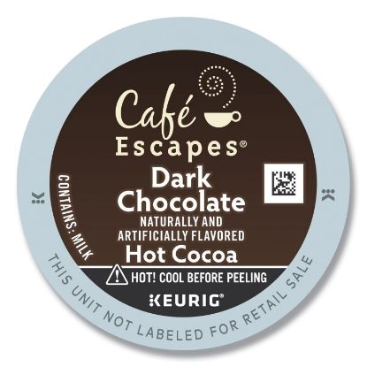Picture of Dark Chocolate Hot Cocoa K-Cups, 24/Box, 4 Box/Carton