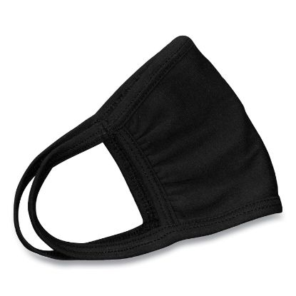 Picture of Cotton Face Mask with Antimicrobial Finish, Black, 10/Pack