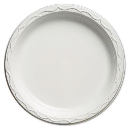 Picture of Aristocrat Plastic Plates, 10 1/4 Inches, White, Round, 125/Pack