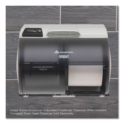 """Picture of ActiveAire Automated Freshener Dispenser for Compact Bath Tissue Dispenser, 10.63"""" x 2.88"""" x 3.75"""", Gray"""