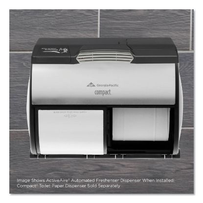 """Picture of ActiveAire Automated Freshener Dispenser for Compact Bath Tissue Dispenser, 10.63"""" x 2.88"""" x 3.75"""", Black"""