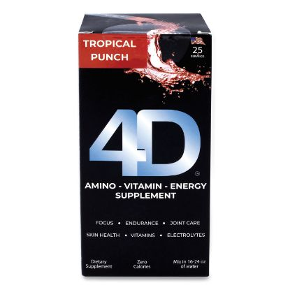 Picture of Clean Energy Dietary Energy Supplement, Tropical Punch, 0.4 oz Packets, 25/Box, Free Delivery in 1-4 Business Days