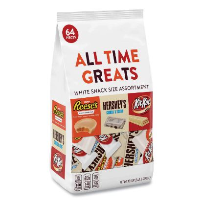 Picture of All Time Greats White Variety Pack, Assorted, 32.6 oz Bag, 64 Pieces/Bag, Free Delivery in 1-4 Business Days