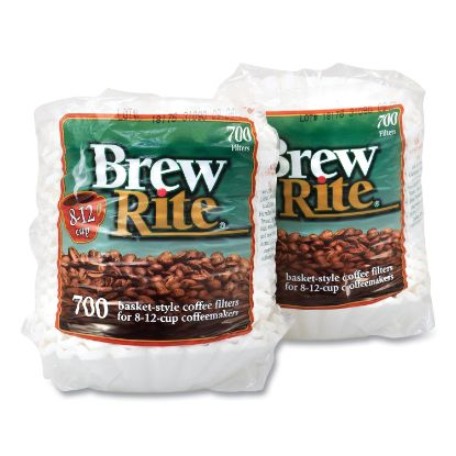 Picture of Basket Coffee Filters, 8-12 Cups, 700/Bag, 2 Bags/Pack, Free Delivery in 1-4 Business Days
