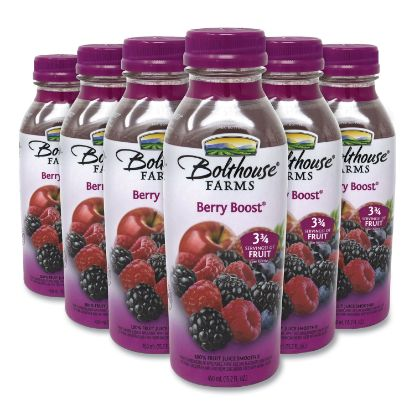 Picture of 100% Fruit Juice Smoothie, Berry Boost, 15.2 oz Bottle, 6/Pack, Free Delivery in 1-4 Business Days