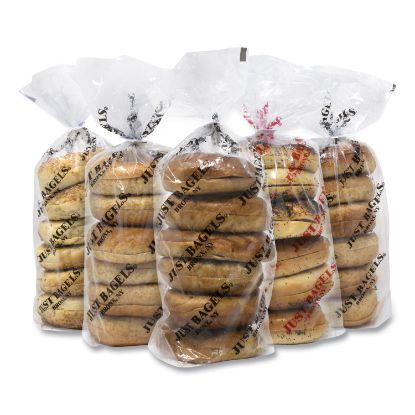 Picture of Assorted Bagels, Assorted Flavors, 6 Bagels/Pack, 5 Packs/Carton, Free Delivery in 1-4 Business Days