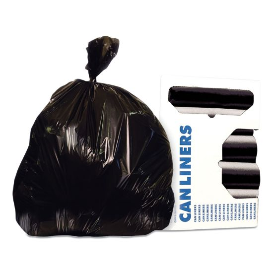 Picture of Linear Low-Density Can Liners, 56 gal, 1.6 mil, 43 x 47, Black, 100/Carton