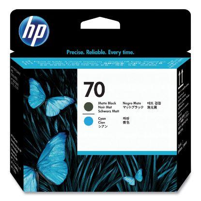 Picture of HP 70, (C9404A) Matte Black/Cyan Printhead