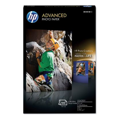 Picture of Advanced Photo Paper, 10.5 mil, 4 x 6, Glossy White, 100/Pack