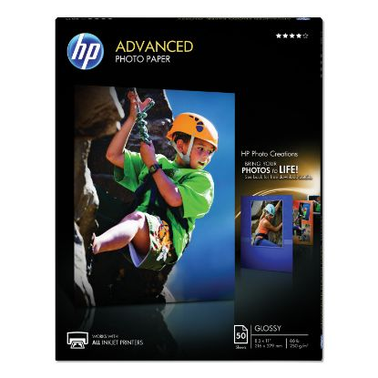 Picture of Advanced Photo Paper, 10.5 mil, 8.5 x 11, Glossy White, 50/Pack