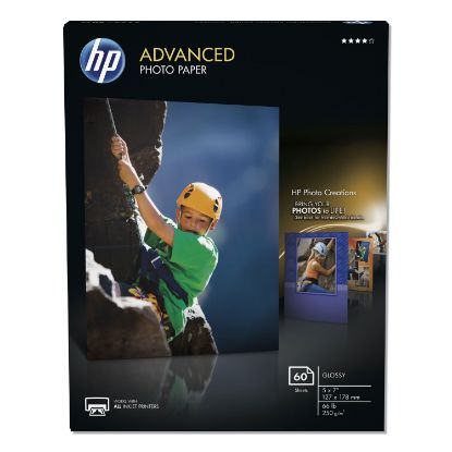 Picture of Advanced Photo Paper, 10.5 mil, 5 x 7, Glossy White, 60/Pack