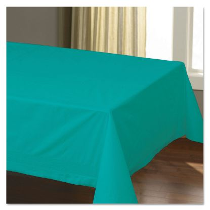 """Picture of Cellutex Table Covers, Tissue/Polylined, 54"""" x 108"""", Teal, 25/Carton"""