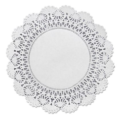 "Picture of Cambridge Lace Doilies, Round, 8"", White, 1000/Carton"