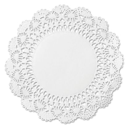 "Picture of Cambridge Lace Doilies, Round, 12"", White, 1000/Carton"