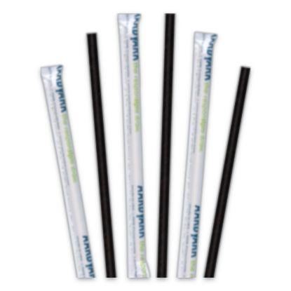 "Picture of Aardvark Paper Straws, 5.75"", Black, 3,200/Carton"