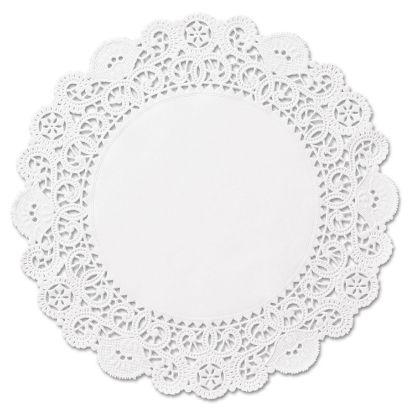 """Picture of Brooklace Lace Doilies, Round, 4"""", White, 2000/Carton"""