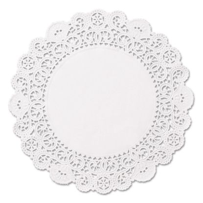 """Picture of Brooklace Lace Doilies, Round, 5"""", White, 2000/Carton"""
