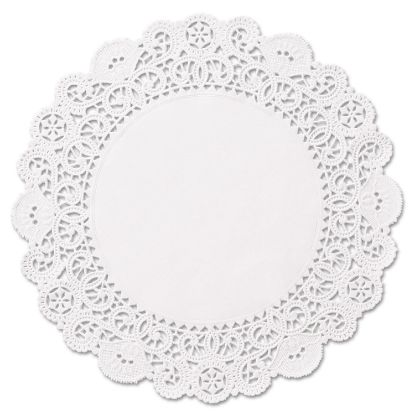 """Picture of Brooklace Lace Doilies, Round, 6"""", White, 2000/Carton"""