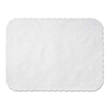 Picture of Anniversary Embossed Scalloped Edge Tray Mat, 14 x 19, White, 1,000/Carton
