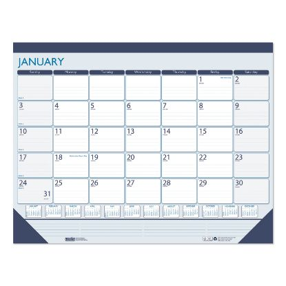 Picture of 100% Recycled Contempo Desk Pad Calendar, 22 x 17, Blue, 2021