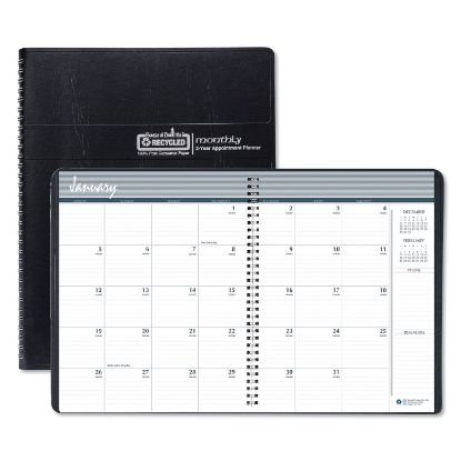 Picture of 100% Recycled Two Year Monthly Planner with Expense Logs, 8.75 x 6.88, 2021-2022