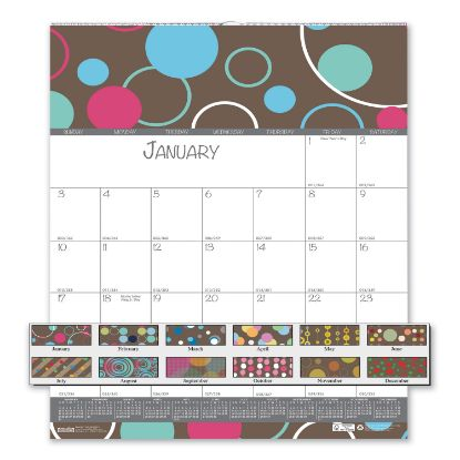 Picture of 100% Recycled Bubbleluxe Wall Calendar, 12 x 12, 2021