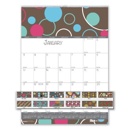 Picture of 100% Recycled Bubbleluxe Wall Calendar, 12 x 16.5, 2021