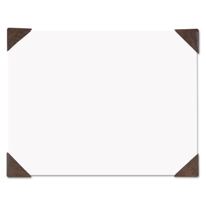 Picture of 100% Recycled Doodle Desk Pad, Unruled, 50 Sheets, Refillable, 22 x 17, Brown