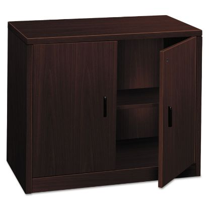 Picture of 10500 Series Storage Cabinet w/Doors, 36w x 20d x 29-1/2h, Mahogany