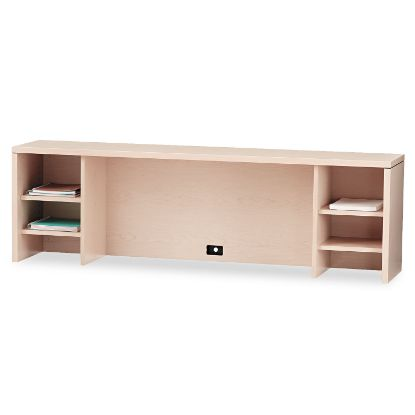 Picture of 10500 Series Stack-On PC Organizer, 72w x 14.63d x 22h, Natural Maple