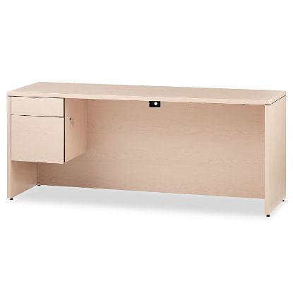 Picture of 10500 Series 3/4-Height Left Pedestal Credenza, 72w x 24d x 29.5h, Natural Maple